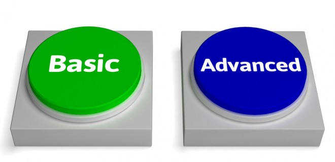 Basic Advanced Buttons Shows Version Or Features