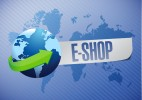 e shop. shop world map illustration design